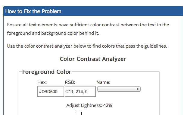 Color Contrast Analyzer